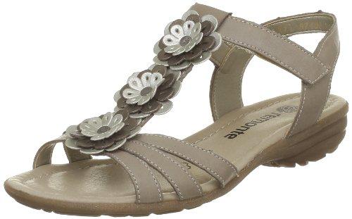 Remonte Sondra T-Brace Womens Beige Beige (porzellan/silver/oro 25) Size: 10.5 (45 EU)