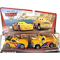 Disney Pixar Cars 2 JEFF GORVETTE & JOHN LASSETIRE Exclusive 2-Pack