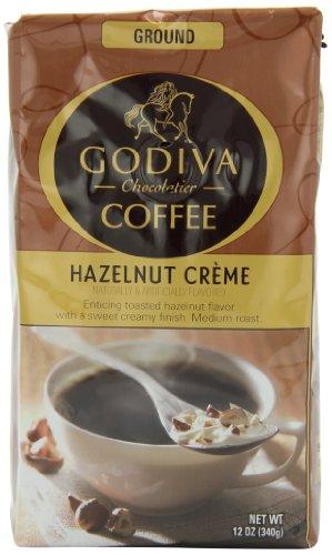 Godiva Coffee, Hazelnut Creme , 12-Ounce (Pack Of 2)