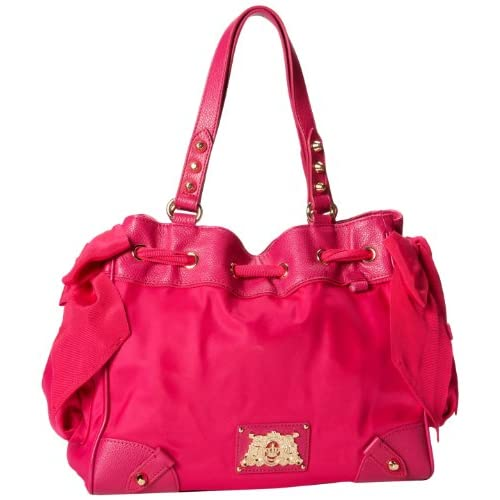 Juicy Couture Easy Everyday Nylon Daydreamer YHRU3350 Shoulder Bag,HOT PINK,One Size