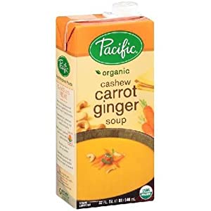 Pacific Foods Organic Cashew Carrot Ginger Soup, 32 Ounce -- 12 per case. from Pacific Natural Foods