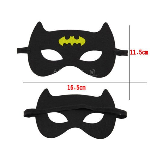 Super Hero Mask Cape Kids Children Baby Boy Girl Cosplay Fancy Dress Costume Toy Batman Mask (Homemade Mexican Costume)