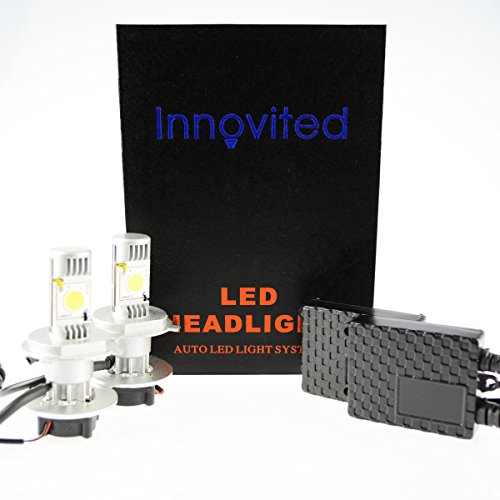 "Innovited Led Headlight Conversion Kit ""All Bulb Size"" With Cree Led - Replaces Hid - H4 9003 Dual Beam"