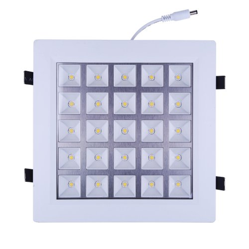 How Nice 25W 110V Led Panel Light Kitchen Light Ceiling Panel Down Light Lamps Square Recessed Ceiling Light Wall Lamp 2750Lm For Home Cool White Indoor Lighting