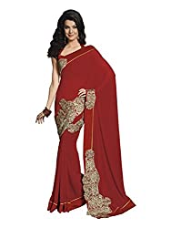 Subhash Sarees Daily Wear Red Color Georgette Saree Sari Sarees