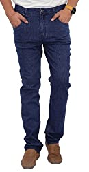 Zaab Men's Comfort Denim Jeans (ZFL-223-Dark Blue_30)