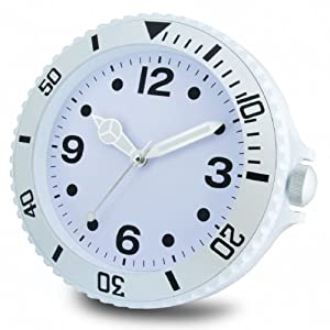 Big Time Funky Wall Clocks White Toys Games