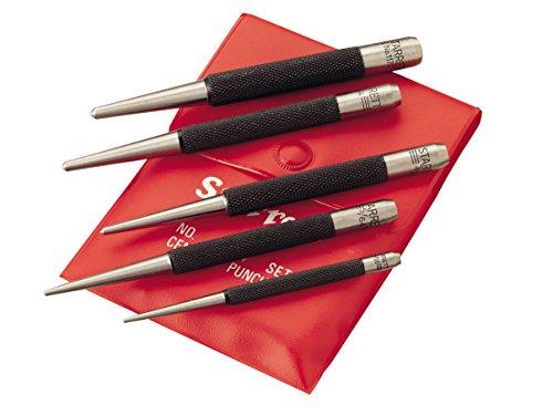 Starrett S117PC Set of 5 Center Punches, 1/16