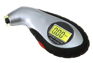 GeX mini manomètre/testeur/ jauge pression pneu électronique/contrôleur pression digital+ lampe LCD pour véhicules, voitures (Plage: 0,5- 99.5Psi ; 0,5- 9.95Bar)