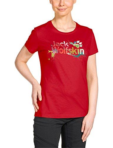 Jack Wolfskin Damen Sunbury OC T-Shirt W, Red Fire, XXL, 1803971-2590006
