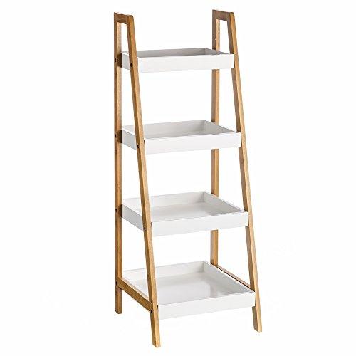 estantera de baldas nrdica blanca de bamb para cuarto de bao basic u lola derek