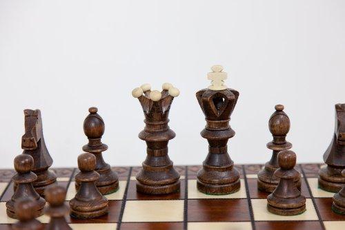 Ambassador Handmade Wooden Chess Set w/ 21 Inch Board and Detailed Chessmen 2