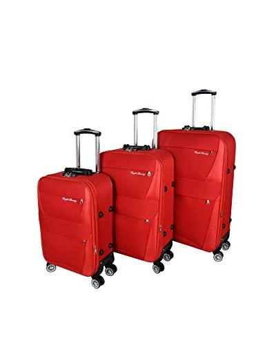 English Laundry 3-Piece Softside Spinner Upright Trolley Luggage Set