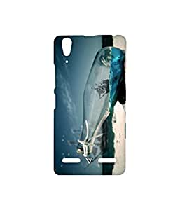 Vogueshell Ship in Bottle Printed Symmetry PRO Series Hard Back Case for Lenovo A6000 Plus