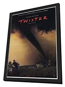 Twister 27 x 40 Movie Poster - Style A - in Deluxe Wood Frame