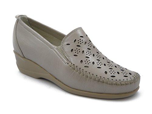Mocassino Kelidon linea comfort, scarpa in pelle con suola gomma flessibile e antiscivolo, Estivo-2836