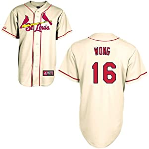 Kolten Wong St Louis Cardinals Alternate Ivory Replica Jersey by Majestic by Majestic