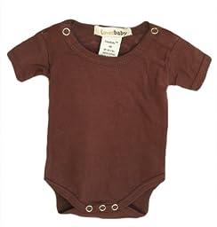 L\'ovedbaby Short-Sleeve Bodysuit, Brown Newborn (up to 7 lbs.)
