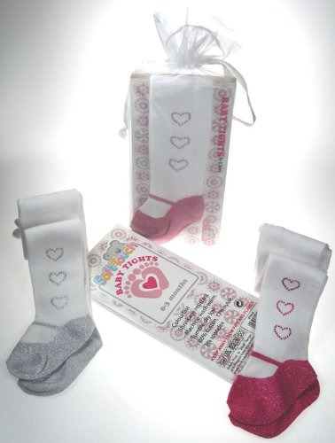 Sale alerts for SoftTouch Infants Cotton Tights w/Metallic Sole & 3 Hearts - Covvet
