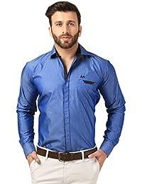 Mesh Full Sleeves Casual Cotton Blended Shirt For Men's/Boy's (Black) -Parent