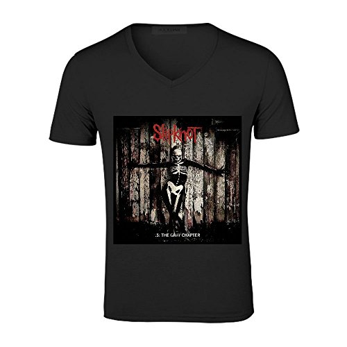 Slipknot .5 The Gray Chapter Men V Neck Custom Black