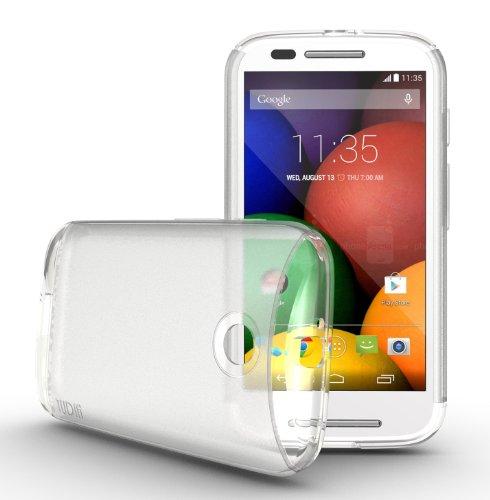 Tudia Ultra Slim Lite Tpu Bumper Protective Case For Motorola Moto E (2014) (Clear)