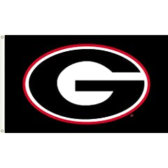 Buy NCAA Georgia Bulldogs 3-by-5 Foot Flag G Logo with Black Background with Grommets by BSI