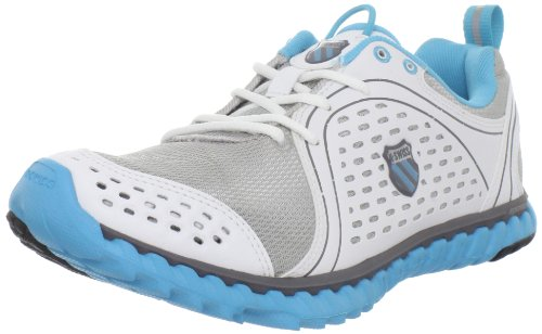 K-Swiss Women's Blade Foot Run W Silver/White/Fiji Blue Trainer 92787-011-M 4.5 UK