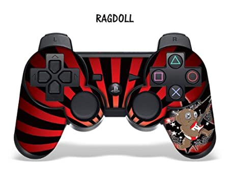Protective Skin for Playstation 3 Remote Controller - Ragdoll Red