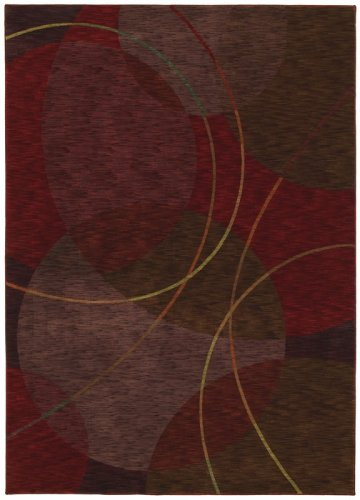 Shaw Area Rugs: Renaissance Rug: Circa: Cranberry Red 01800: 2'6