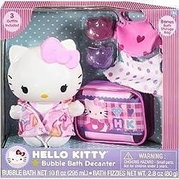 Hello Kitty Bubble Bath Decanter Bag Outfits Fizzies 8 Piece Set - Sanrio
