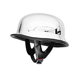 German Helmets - DOT German Motorcycle Helmet 115 Chrome