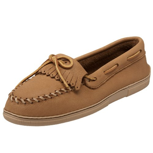 Minnetonka Women's Moosehide Fringed Kilty Moccasin