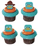 Phineas and Ferb Agent P Faces Cupcake Rings - 12 ct