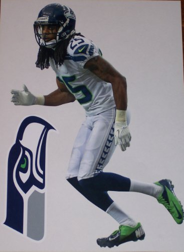 Richard-Sherman-Mini-FATHEAD-Seattle-Seahawks-Logo-Official-NFL-Vinyl-Wall-Graphics-7-INCH