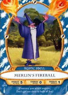 Sorcerers Mask of the Magic Kingdom Game, Walt Disney World - Card #12 - Merlin's Fireball - 1