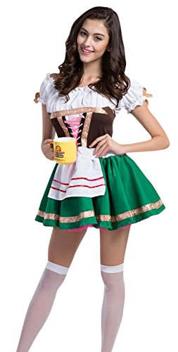 Ace Halloween Adult Women's Sexy Beer Waitress Maid Costume