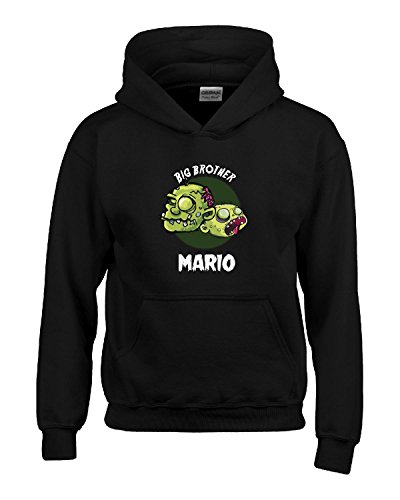 Halloween Costume Mario Big Brother Funny Boys Personalized Gift - Kids Hoodie Black Kids M