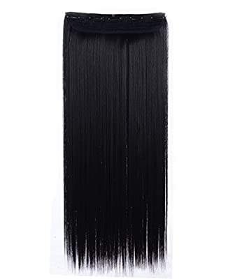 "OneDor® 24"" Straight 3/4 Full Head Synthetic Hair Extensions Clip on Hairpieces"