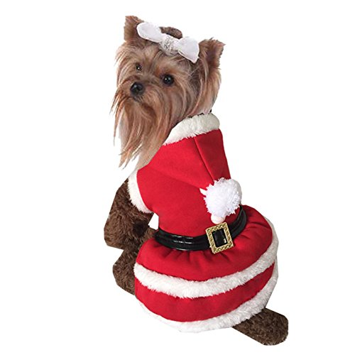 TANG imp Cucciolo Cane Teddy Natale Rosso Vestito Jumpsuit Felpe Vestiti Pet Cane Inverno Caldo Cappotto Hoodies Costume L