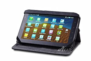 Acase Vintage Acme Black Leather Case with Stand for Samsung Galaxy Tab P1000 WiFi 3G