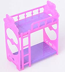 Coolla Dolls Plastic Bunk Furnitur Bed For Dolls