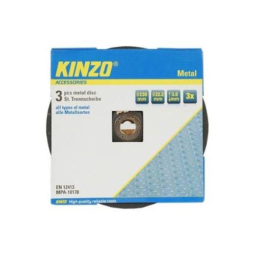 kinzo-71770-disque-en-metal-230-mm-3-pieces