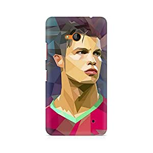 Motivatebox- Ronaldo Abstract Premium Printed Case For Nokia Lumia 640 -Matte Polycarbonate 3D Hard case Mobile Cell Phone Protective BACK CASE COVER. Hard Shockproof Scratch-
