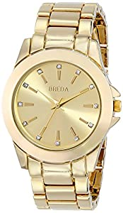 Breda Women's 2389B Rhinestone-Accented Watch