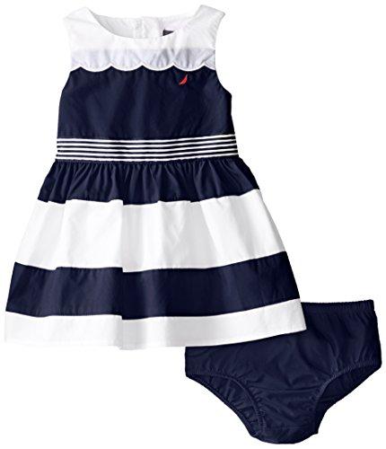 Nautica Baby Girls' Color Block Scallop Poplin Dress толстовка nautica n3470