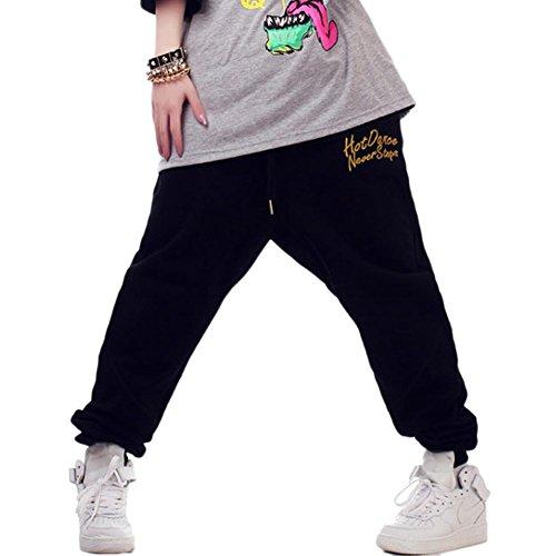 Junnyi Girls Plus Size Hip-Hop Dancing Pants Casual Harem Sweatpants