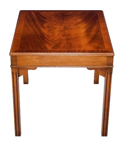 Image of Flame Mahogany Chippendale End Table (B008Z2734Q)