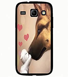 ColourCraft Cute Puppy and Dog Design Back Case Cover for SAMSUNG GALAXY CORE I8262 / I8260