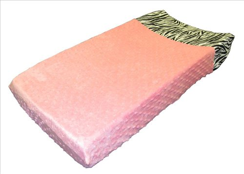 Sisi Baby Design Diaper Changing Table Pad Cover -Pink Minky Zebra